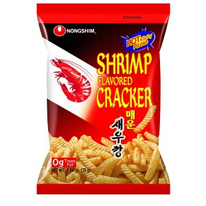 Chipsy Shrimp Flavored Cracker krewetkowe pikantne 75g, Nongshim